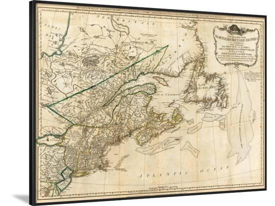 General Map Of The Northern British Colonies In America C 1776