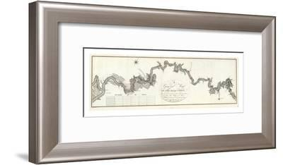 General Map of The River Ohio, c.1796-George Henri Victor Collot-Framed Art Print