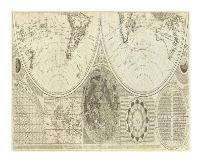 General Map of the World, or Terraqueous Globe, c.1787-Samuel Dunn-Art Print