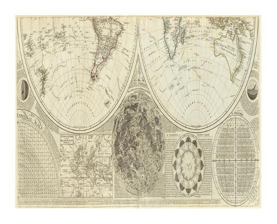General Map of the World, or Terraqueous Globe, c.1787-Samuel Dunn-Art Print