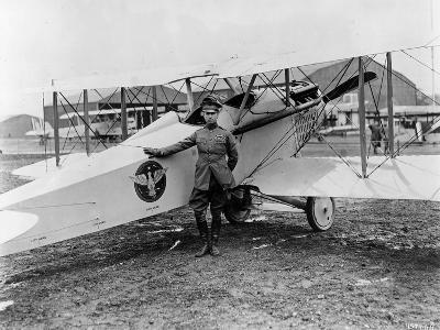 General Mitchell Standing by a VE-7 at Bolling Field Air Tournament, 1920--Photographic Print
