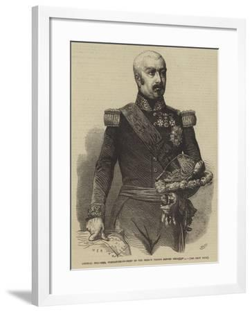 General Pelissier, Commander-In-Chief of the French Troops before Sebastopol--Framed Giclee Print