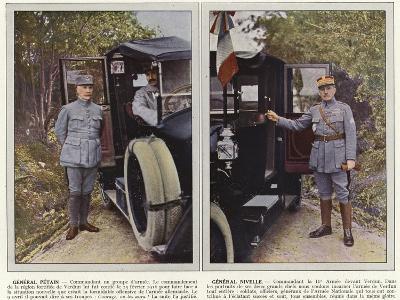 General Petain, General Nivelle-Jules Gervais-Courtellemont-Photographic Print