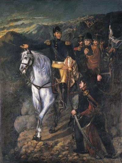 General San Martin after Crossing the Andes in 1817, 1865-Martin Boneo-Giclee Print