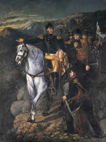 General San Martin after Crossing the Andes-Martin Boneo-Art Print