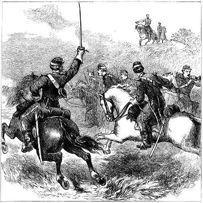 General Sheridan at Cedar Creek, Virginia, American Civil War, 1864--Giclee Print