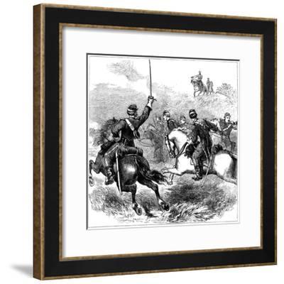 General Sheridan at Cedar Creek, Virginia, American Civil War, 1864--Framed Giclee Print