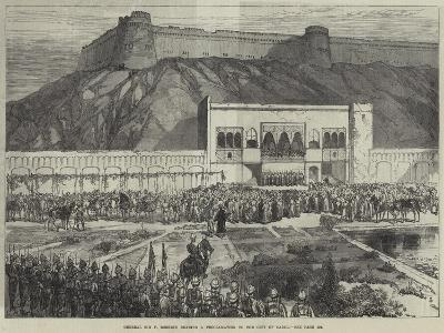 General Sir F Roberts Reading a Proclamation to the City of Cabul--Giclee Print