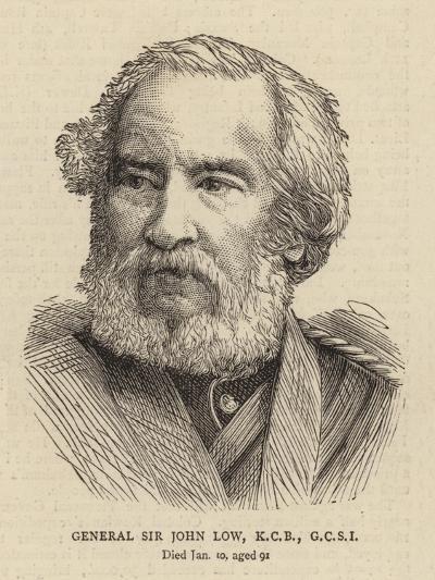 General Sir John Low, Kcb, Gcsi--Giclee Print