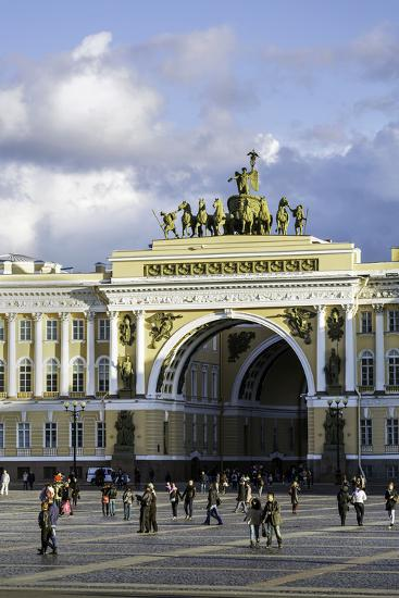General Staff Building, Hermitage Square, St. Petersburg, Russia-Gavin Hellier-Photographic Print