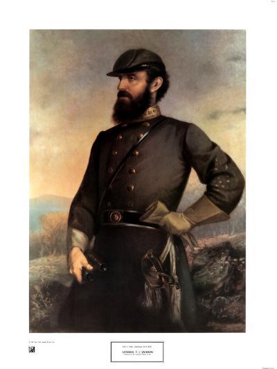 General T.J. Jackson-John A^ Elder-Art Print