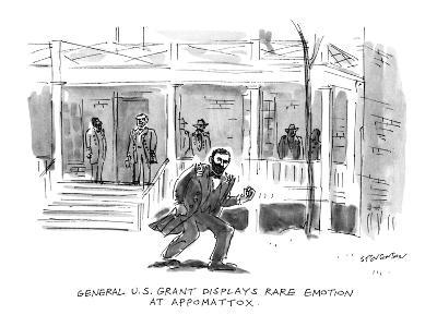 General U.S. Grant Displays Rare Emotion At Appomattox. - New Yorker Cartoon-James Stevenson-Premium Giclee Print