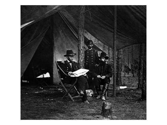 General U.S. Grant in Camp, Civil War-Lantern Press-Art Print