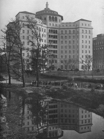 General view from Central Park, Fifth Avenue Hospital, New York City, 1922--Photographic Print