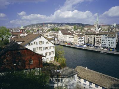 General View from Lindenhof of the City Across the Zimmat River, Zurich, Switzerland, Europe-Guy Thouvenin-Photographic Print
