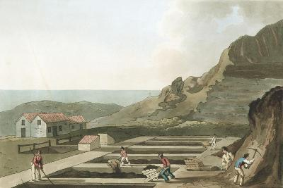 General View of an Alum Works in the Whitby Area, Yorkshire, 1814- Havell & Son-Giclee Print