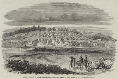 General View of an Encampment at Woolmer--Giclee Print