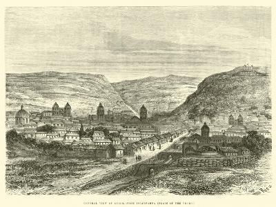 General View of Cuzco, from Iscaypampa, Plain of the Thorn-?douard Riou-Giclee Print