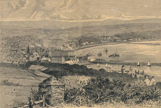 General View of Douglas, 1880-Abel Lewis-Giclee Print