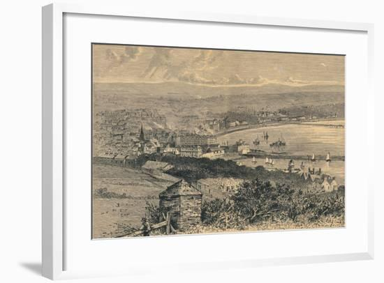 General View of Douglas, 1880-Abel Lewis-Framed Giclee Print