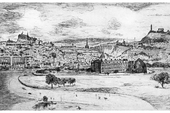 General View of Edinburgh, from Arthur's Seat, 1900-Frank Laing-Giclee Print