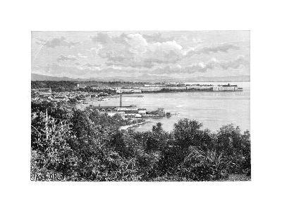 General View of Fort-De-France, Martinique, C1890-A Kohl-Giclee Print