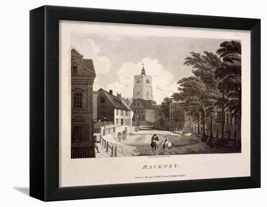 General View of Hackney, London, 1791-William Ellis-Framed Stretched Canvas Print