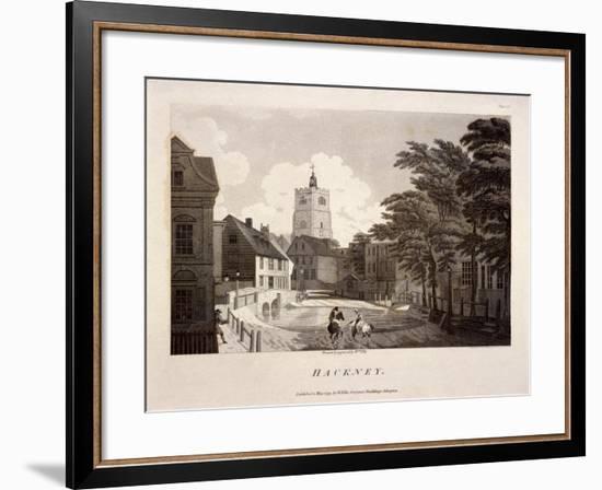 General View of Hackney, London, 1791-William Ellis-Framed Premium Giclee Print
