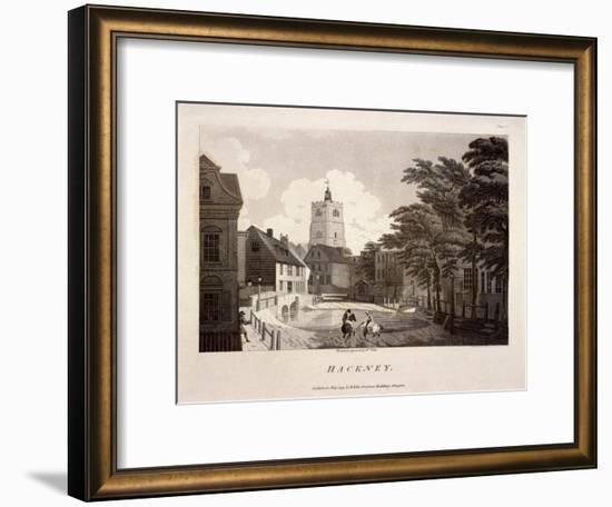 General View of Hackney, London, 1791-William Ellis-Framed Giclee Print