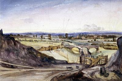 General View of Hampstead, London, 1837-Edmund Marks-Giclee Print