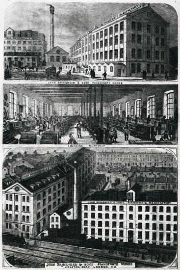 General View of John Brimsmead and Sons Pianoforte Works, Grafton Road, Kentish Town, London--Giclee Print