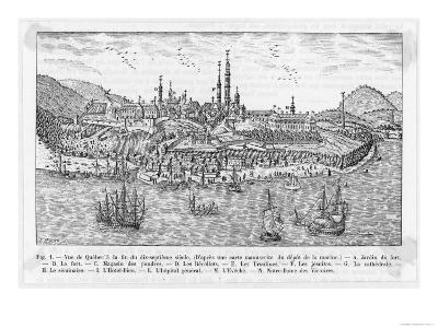 General View of Quebec and the St. Lawrence River--Giclee Print