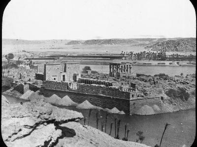 General View of Ruins, Philae, Egypt, C1890-Newton & Co-Photographic Print
