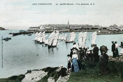General View of Saint Malo, Brittany, France, 20th Century--Giclee Print