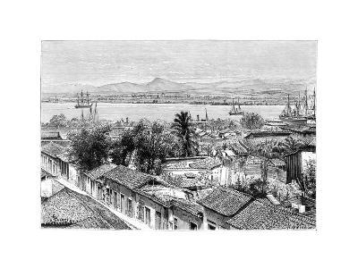 General View of Santiago, Cuba, C1890- Maynard-Giclee Print