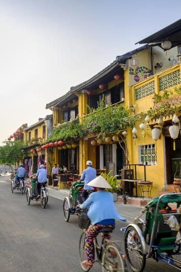 General view of shop houses and bicycles in Hoi An, Vietnam, Indochina, Southeast Asia, Asia-Alex Robinson-Photographic Print