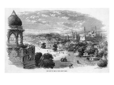 General View of the City with the Jama Masjid Mosque in the Distance--Giclee Print