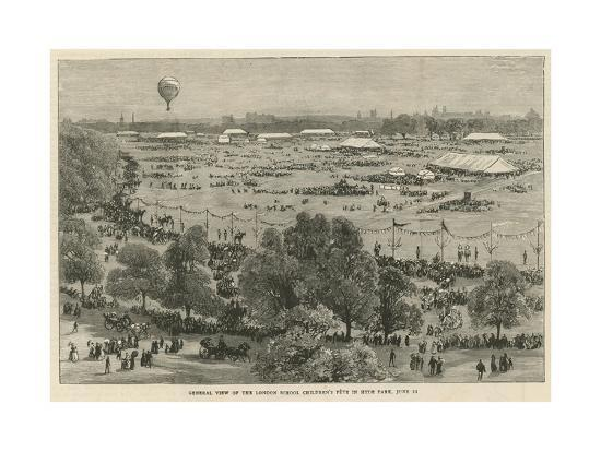 General View of the London School Children's Fete in Hyde Park--Giclee Print