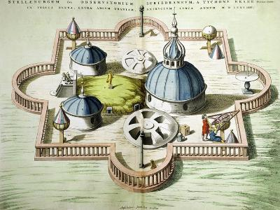 General View of the Observatory of Uraniborg, Constructed circa 1584 by Tycho Brahe-Willem And Joan Blaeu-Giclee Print