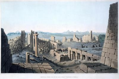 General View of the Ruins of the Great Temple at Carnac, Egypt, 1820-I Clark-Giclee Print