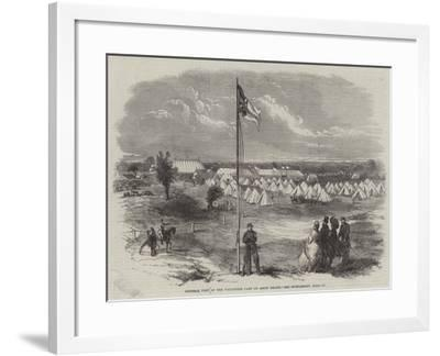 General View of the Volunteer Camp on Ascot Heath--Framed Giclee Print
