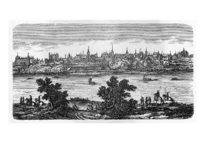 General View of Warszawa, Seen across the Vistula--Giclee Print