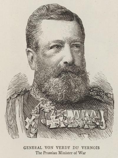 General Von Verdy Du Vernois--Giclee Print