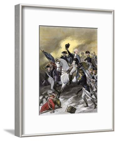 General Washington Leading the Americans at the Battle of Princeton, New Jersey, c.1777