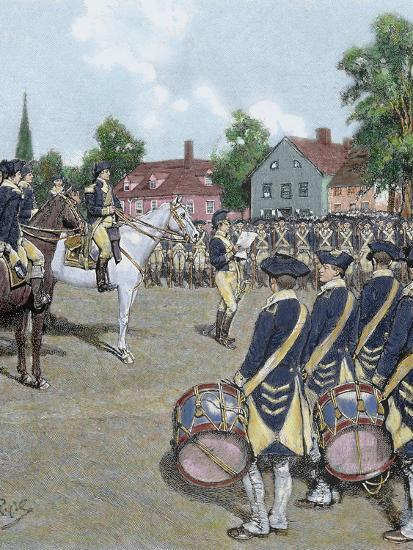 General Washington's Army in New York on July 9, 1776 by Howard Pyle, 1892-Prisma Archivo-Photographic Print