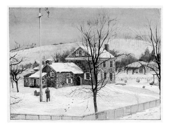 General Washington's Headquarters at Valley Forge--Giclee Print