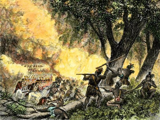General Wayne's Victory at the Battle of Fallen Timbers, c.1794--Giclee Print