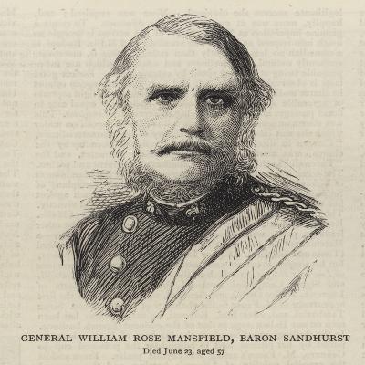 General William Rose Mansfield, Baron Sandhurst--Giclee Print
