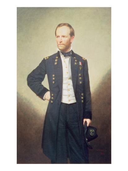 General William Sherman-George Peter Alexander Healy-Giclee Print