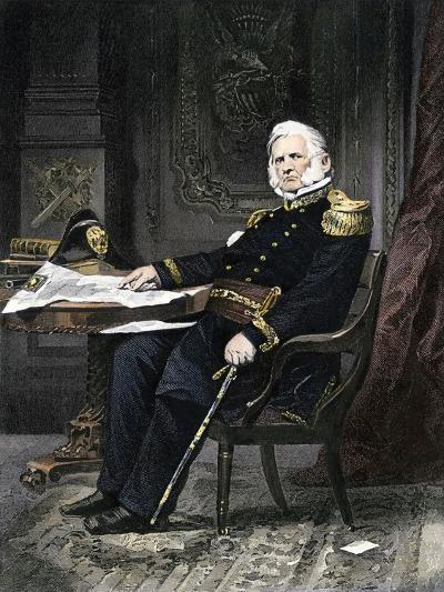 General Winfield Scott Seated at His Desk--Giclee Print